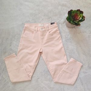 NWT Lucky Brand Mid Rise Crop Baby Pink Jeans